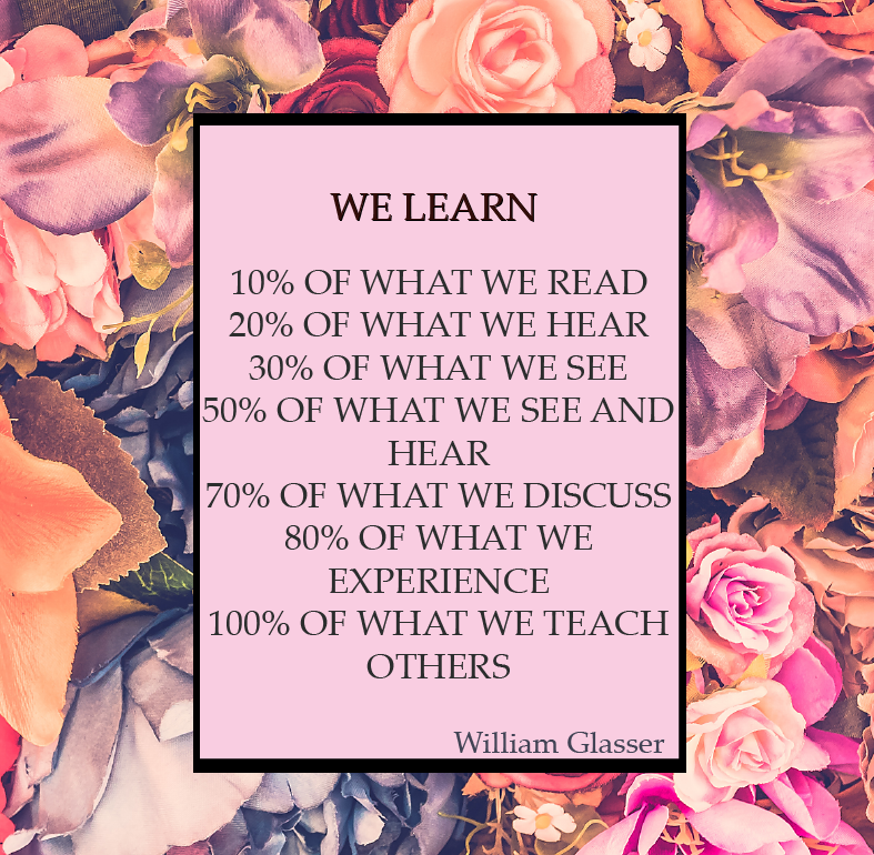We learn…